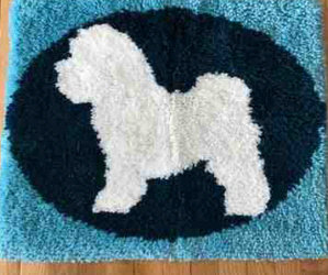 In Our Holiday Benefit Auction Bichon Christmas Tee/Bichon Collar /Bichon Leash/Bichon Shag Rug!