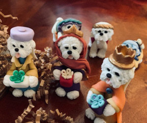 Our Holiday Auction is Coming Into The Home Stretch! Bichon Nativity 18 Piece Set/ New Fitbit Charge 2/ Bichon Leash and Coat Holder/Christmas Snowman Candle Tea Lights!
