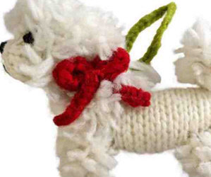 "We Are Getting him. Starving One Year Old ""Sawyer""/ Auction Items: Christmas Light Up Bichon!/Wooly Bichon Ornament!/Tory Burch Crossbody Bag/ Hand Painted Bichon Items by Manuella Quick!"