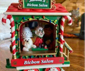 Online Auction Update For The Bichons in Need! Rare Danbury Mint Christmas Train Mint Condition!/ Top Danbury Mint Bichon Items!/ New Blue Pet Bed/ Bid For The Bichons!